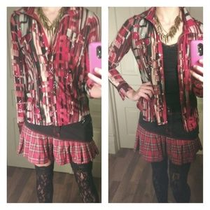 Sequined abstract light jacket blouse top shirt